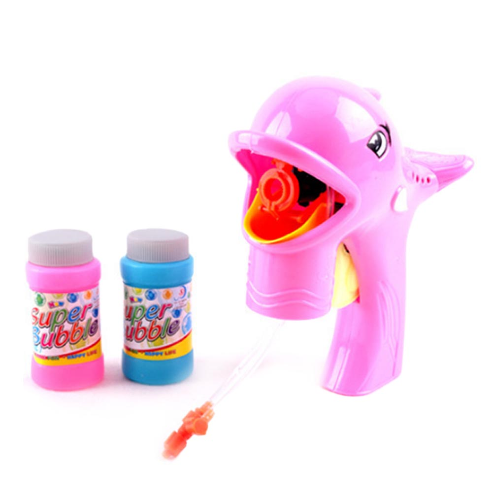 Cute Dolphin Bubble Maker Box Birthday Gifts Toys for Children Kids outdoor Funny playing toy High quality