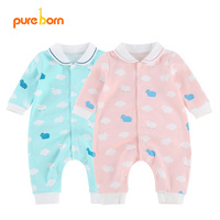 Spring 2017 Newborn Toddlers Infant Baby Girl Boy Clothes Rompers Long Sleeve Cotton Organic Sleepwear Clothing