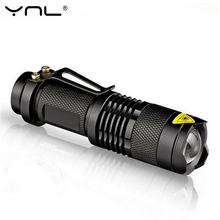 YNL Mini Led Flashlight Q5 Waterproof 2000LM no tazer 3 Modes Zoomable Adjustable Focus Portable Light use AA 14500 battery