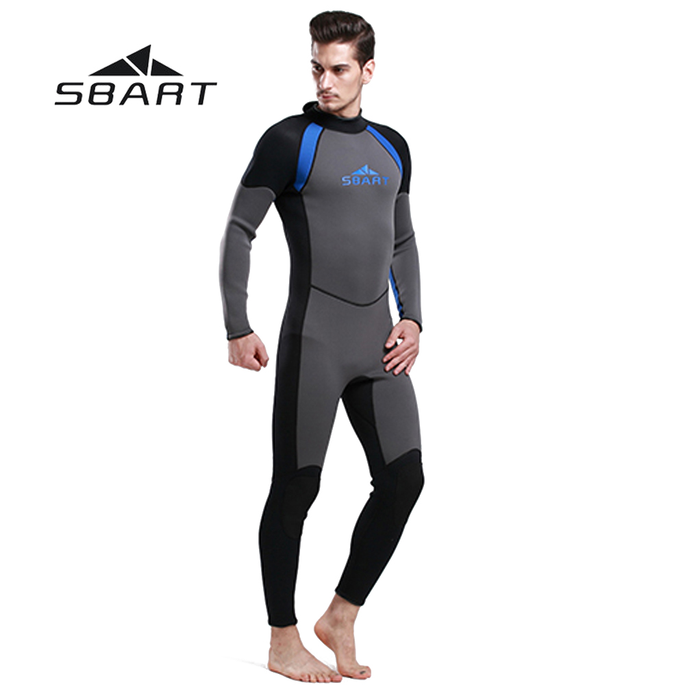 SBART 3mm Neoprene Men Wetsuit One Pieces Suit Scuba Diving Surfing Snorkeling Swimwear Fishing Spearfishing Full Body Jumpsuit sbart upf50 rashguard 2 bodyboard 1006