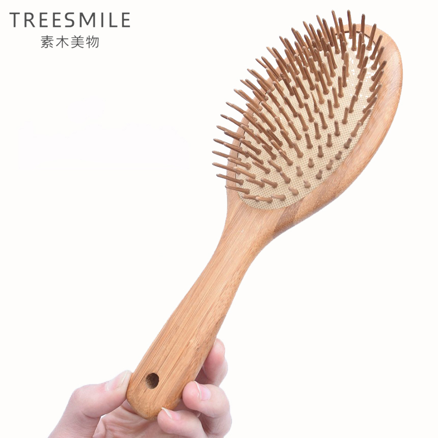 1PC Big Bamboo Anti-static hair comb wood Pad comb Teeth Human Massage Hair Brush Bamboo charcoal comb teeth hairbrush D20 janeke golden wide teeth comb with handle page 5