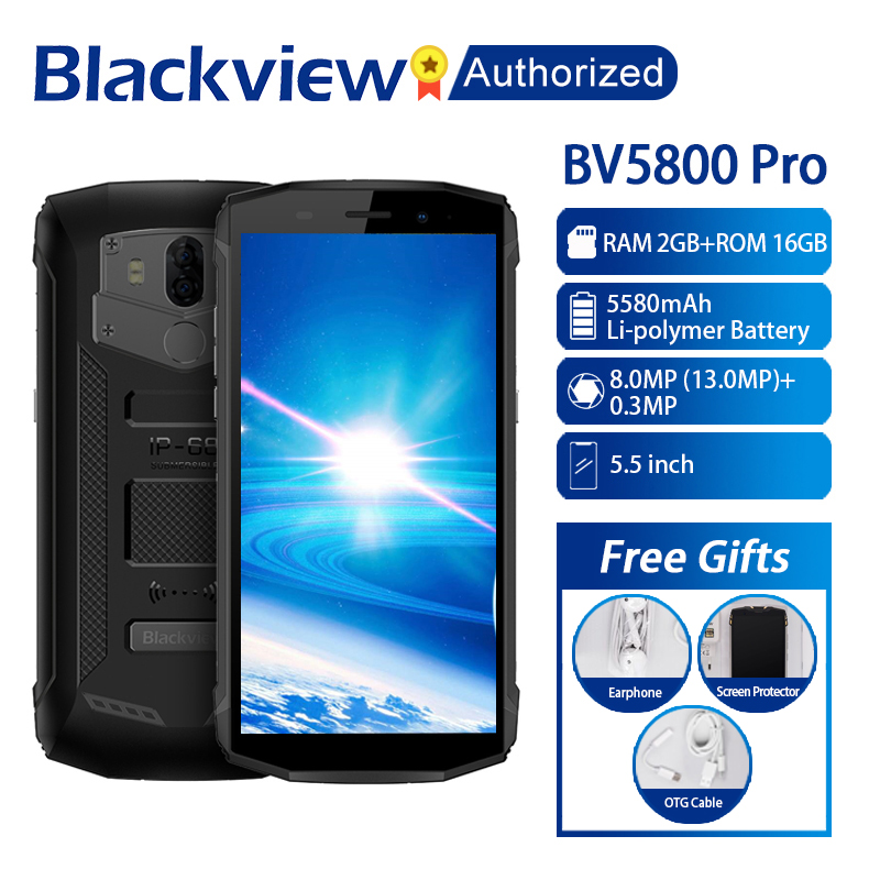 """Blackview BV5800 Pro Smartphone 5.5"""" Screen 2GB RAM 16GB ROM Android 8.1 MTK6739 Quad Core 1.5GHz Wireless Charging NFC 4G OTG-in Cellphones from Cellphones & Telecommunications    1"""