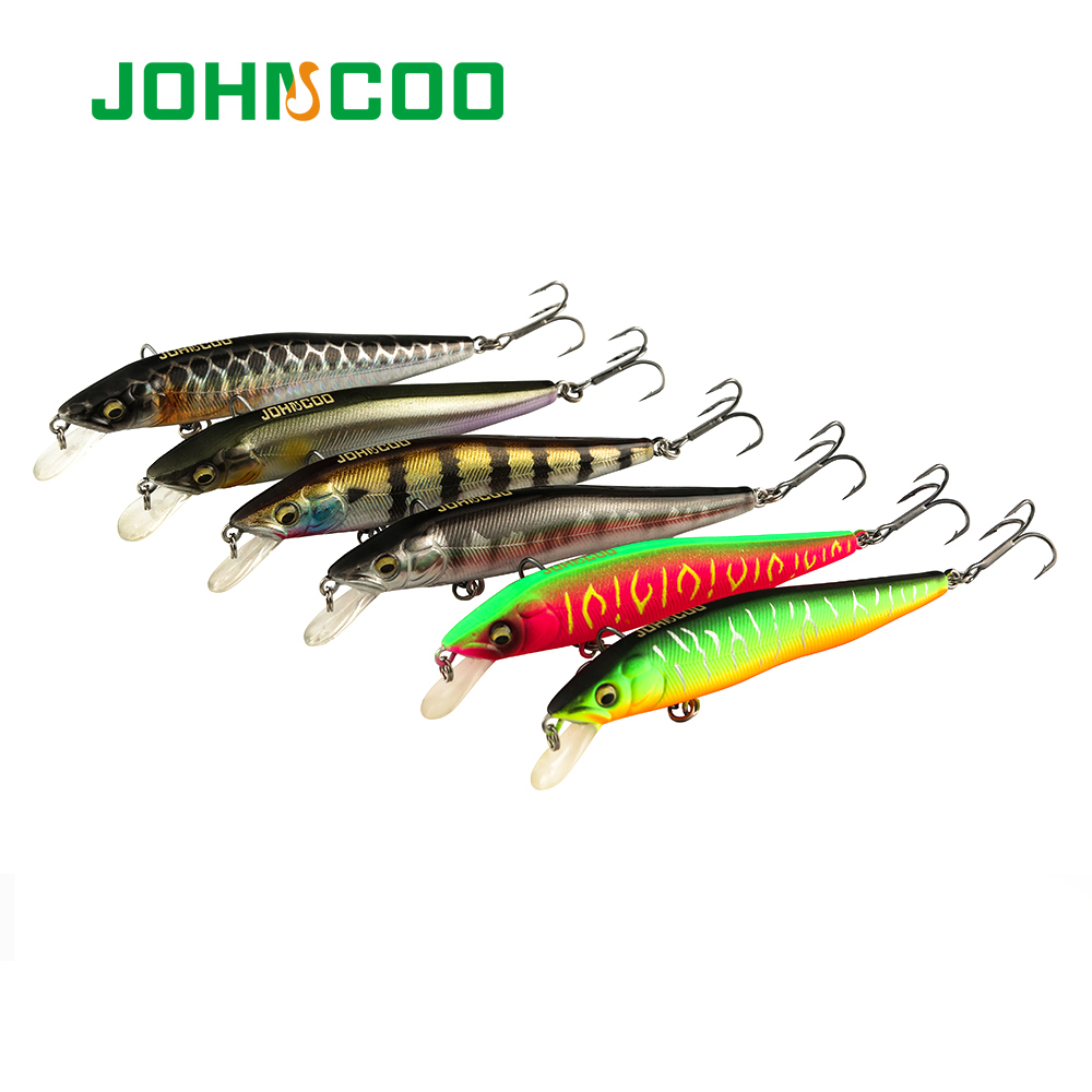 JOHNCOO Fishing Lure 100mm 10g Wobbler Sinking Minnow Hard Plastic Minnow Pike Bass  Isca Artificial Tackle