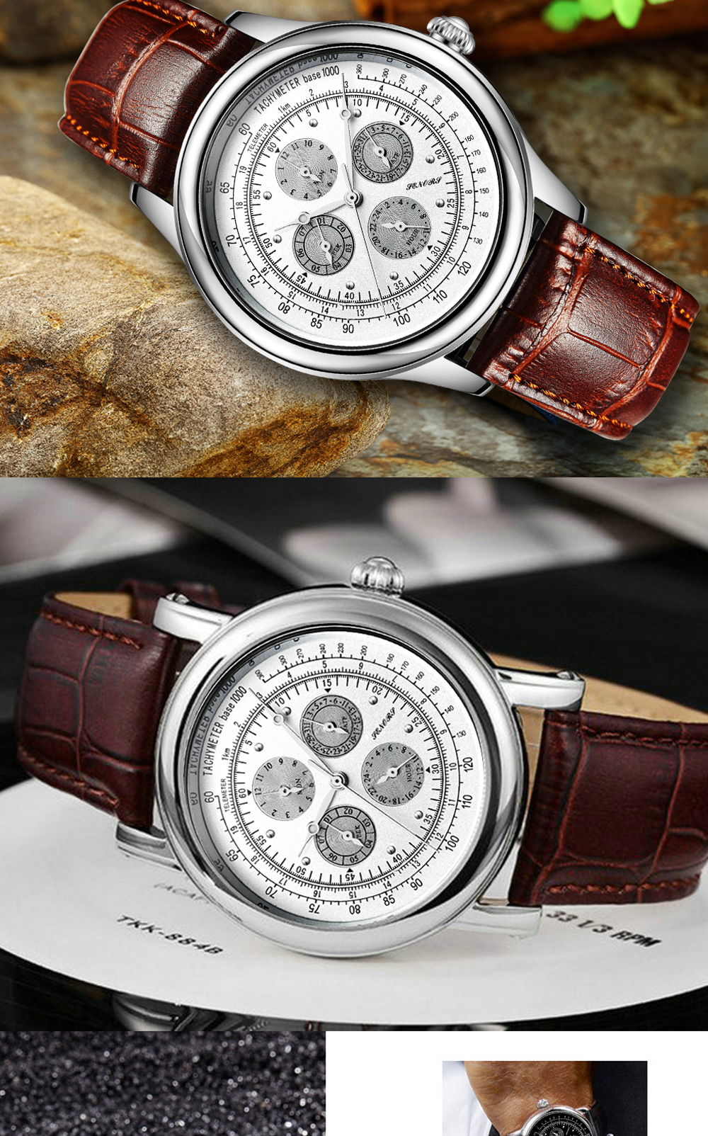 Senors Automatic Mechanical Watch For Men Stainless Steel (10)