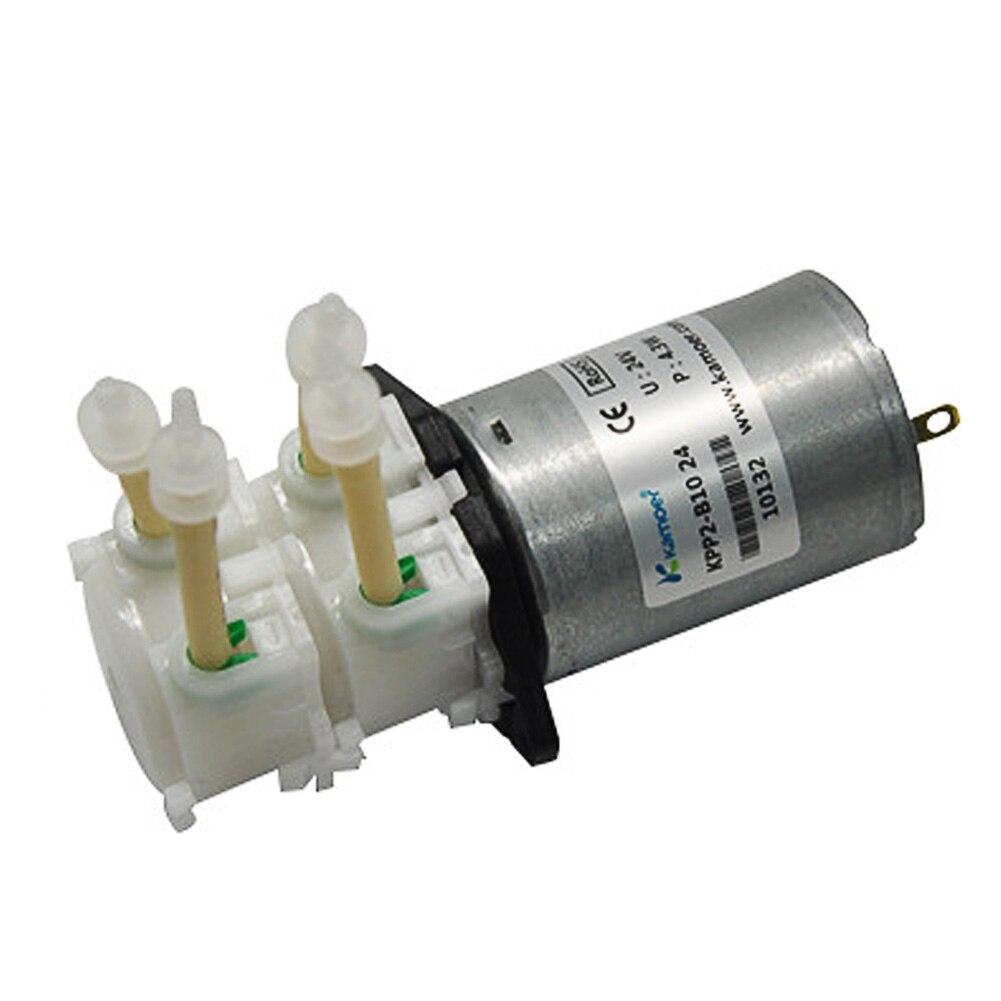 Nouveau DC 12 V 24 V pompe à eau double tête BPT Tube laboratoire dosage Micro auto-amorçante Mini pompe à liquide péristaltique