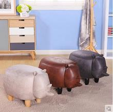 Contemporary and contracted creative low stool change stool wood shoes shoe stool adult children sofa storage stool bag mail
