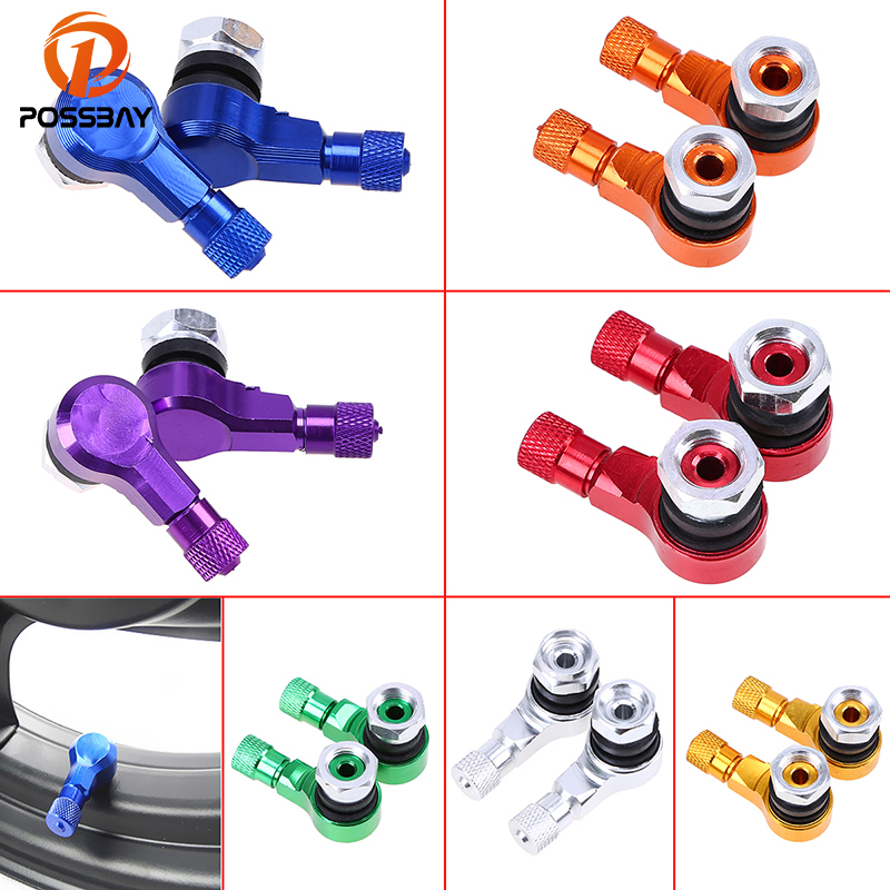 POSSBAY CNC Aluminium Alloy Car Styling Wheel Tire Valve Stem Cap Air Cover for Harley Honda Yamaha Car Motorcycle Accessories