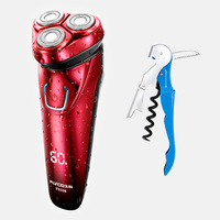 Flyco 100 240V Rechargeable Electric Shaver 3D Triple Floating Blade Heads Shaving Razors Face Care FS338