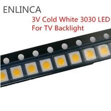 50-100 piezas SMD LED 0,5 W 1 W 3 V blanco frío 3030 LED diodo LCD luz trasera luz de fondo LED para TV con retroiluminación