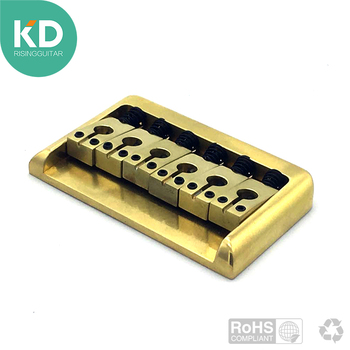 Electric guitar bridge made of solid brass High quality cooper saddle heavy bridge