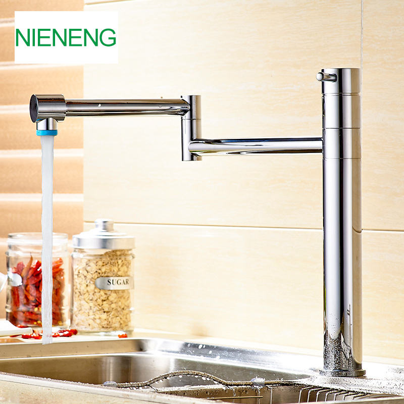 NIENENG kitchen faucet robinet sink mixer sprayer water cocina faucets chrome mixers kitchen taps wash basin