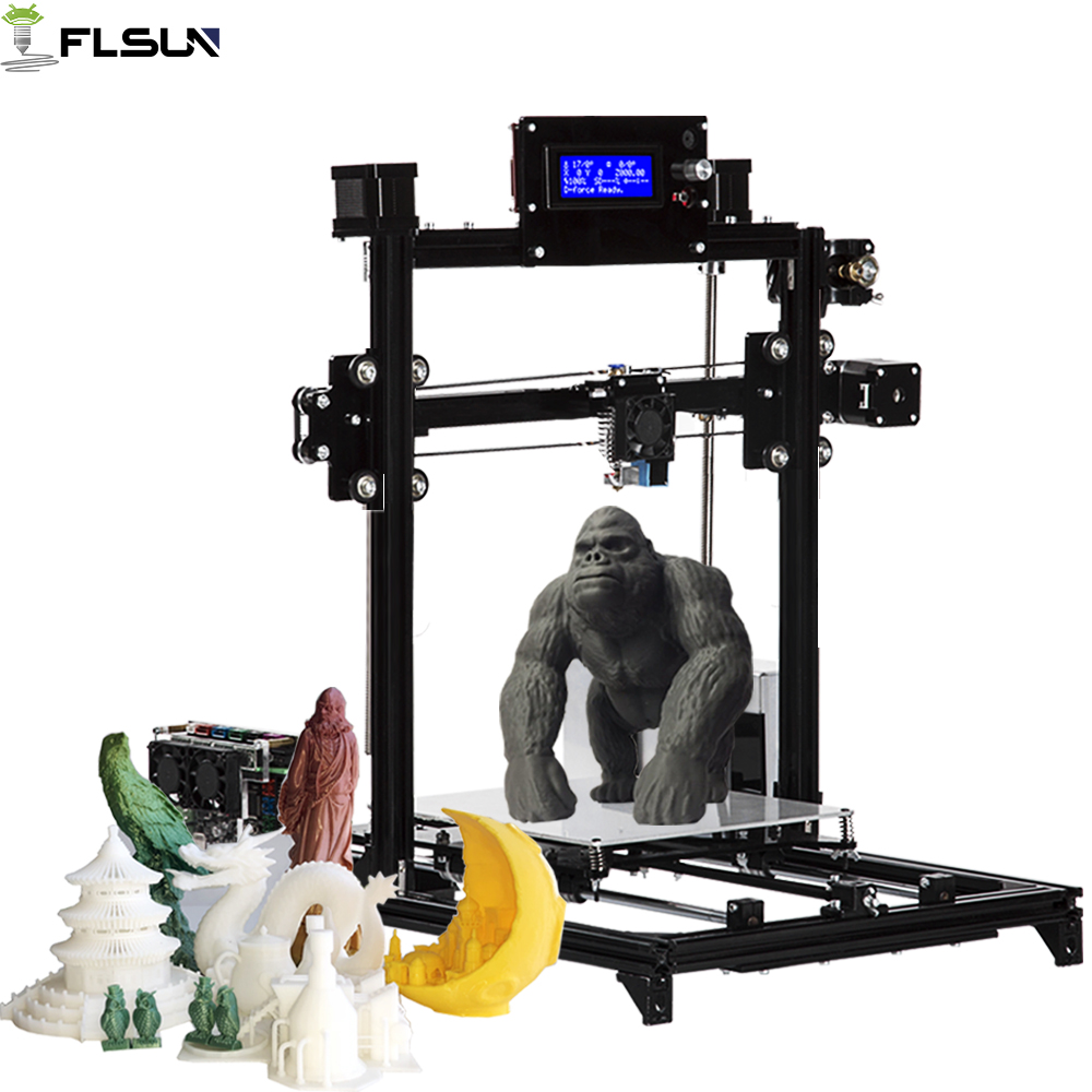 Flsun I3 3D Printer Printing Size 200*200*220mm Double Z Motor Auto Leveling Heated Bed Kit SD Card & One Roll Filament Gift все цены