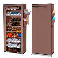 10 Layers 9 Grids Thick Non woven Cloth Dustproof Shoe Storage Cabinet DIY Assembly Shoes Rack Shoe Organizer Shelves Furniture