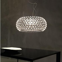 Диаметр 50 см Creative анти-пот кулон фары современный акрил кулон лампа гостиная столовая освещение светильники PL109