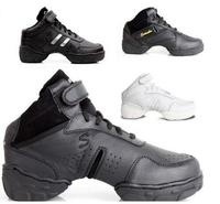 New 2017 Leather High Heel Wedge Platform Black White Dance Shoes Jazz Sneakers Women Hip Hop
