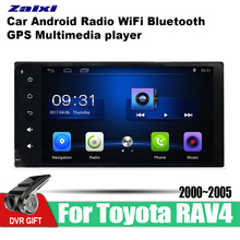 ZaiXi Android Car GPS Multimedia Player For Toyota RAV4 2000~2005 car Navigation radio Video Audio WiFi Bluetooth