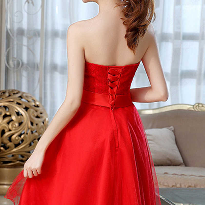 733c61f2908 ... ALIMIDA Short Homecoming Dresses 2017 Red Formal Dresses with Bow  Asymmetrical Under  50 Wedding Party Dress
