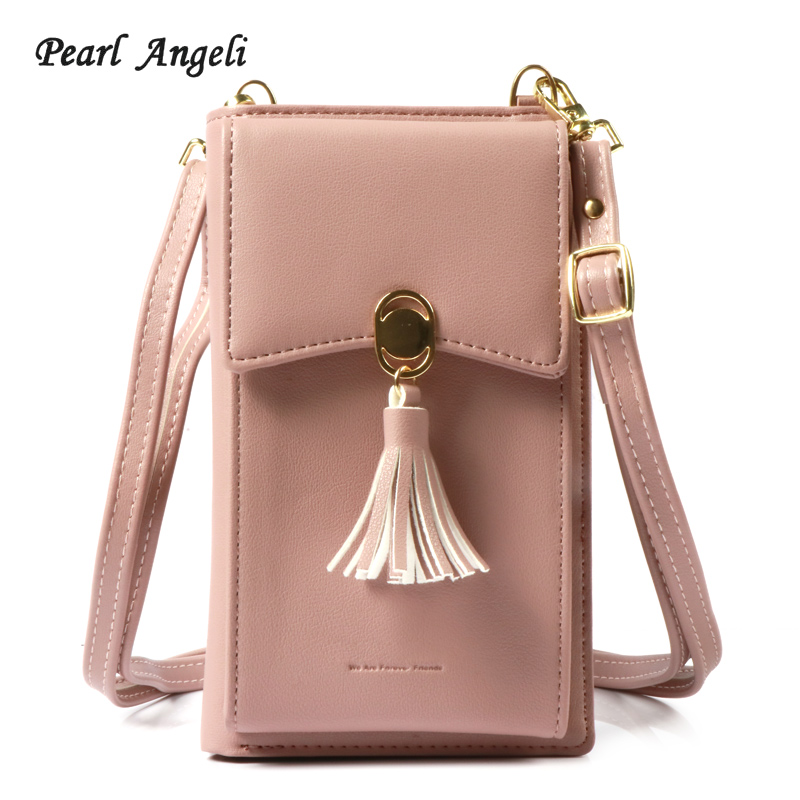 Pearl Angeli Fashion Women Wallet Tassel Crossbody Bag Card Holder Coin Purse Lady Handbag Clutch Wallets Portefeuille Femme fashion girl change clasp purse money coin purse portable multifunction long female clutch travel wallet portefeuille femme cuir