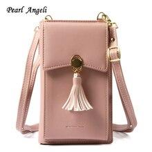 Pearl Angeli mood naiste rahakott Tassel teenetemärgi Crossbody kott kaardi hoidja mündi rahakott iPhone naiste käekott sidur rahakotid