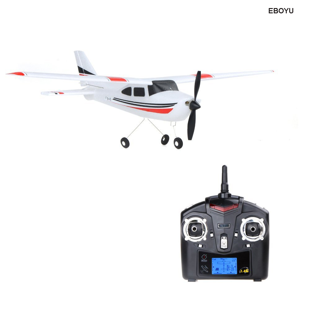 EBOYU F949 Remote Control Plane Cessna 182 2.4G 4CH RC Fixed Wing Plane/Electric flying Aircraft RC Quadcopter Drone eboyu tm volantex rc tw781 cessna 2 4g 2ch rc airplane 200mm wingspan mini epp infrared remote control indoor drone aircraft