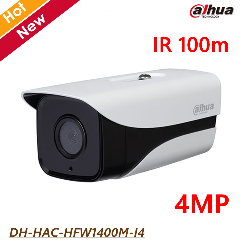 New Dahua 4MP High defination HDCVI Outdoor Bullet Camera DH-HAC-HFW1400M-I4 IR 100m Waterproof IP67 Support CVI CVBS cctv cam wistino cctv camera metal housing outdoor use waterproof bullet casing for ip camera hot sale white color cover case