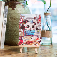 Postcard Original Hand Painted Style Chinese Style Chengdu Folk Custom Souvenir Panda Card Special Gift Recommendation