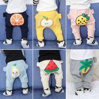 Inverno Ragazzi Pantaloni Delle Ragazze Del Cotone Del Bambino Del Modello della Frutta Lungo Autunno Pantaloni Pantaloni Bambini Cadono I Vestiti Al di Fuori