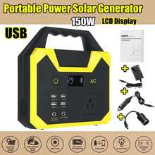 UPS Portable Generator Power Supply 220V 40800mah 150WH 200W 15A Solar Energy Storage USB Charger Portable Power Solar Generator(China)