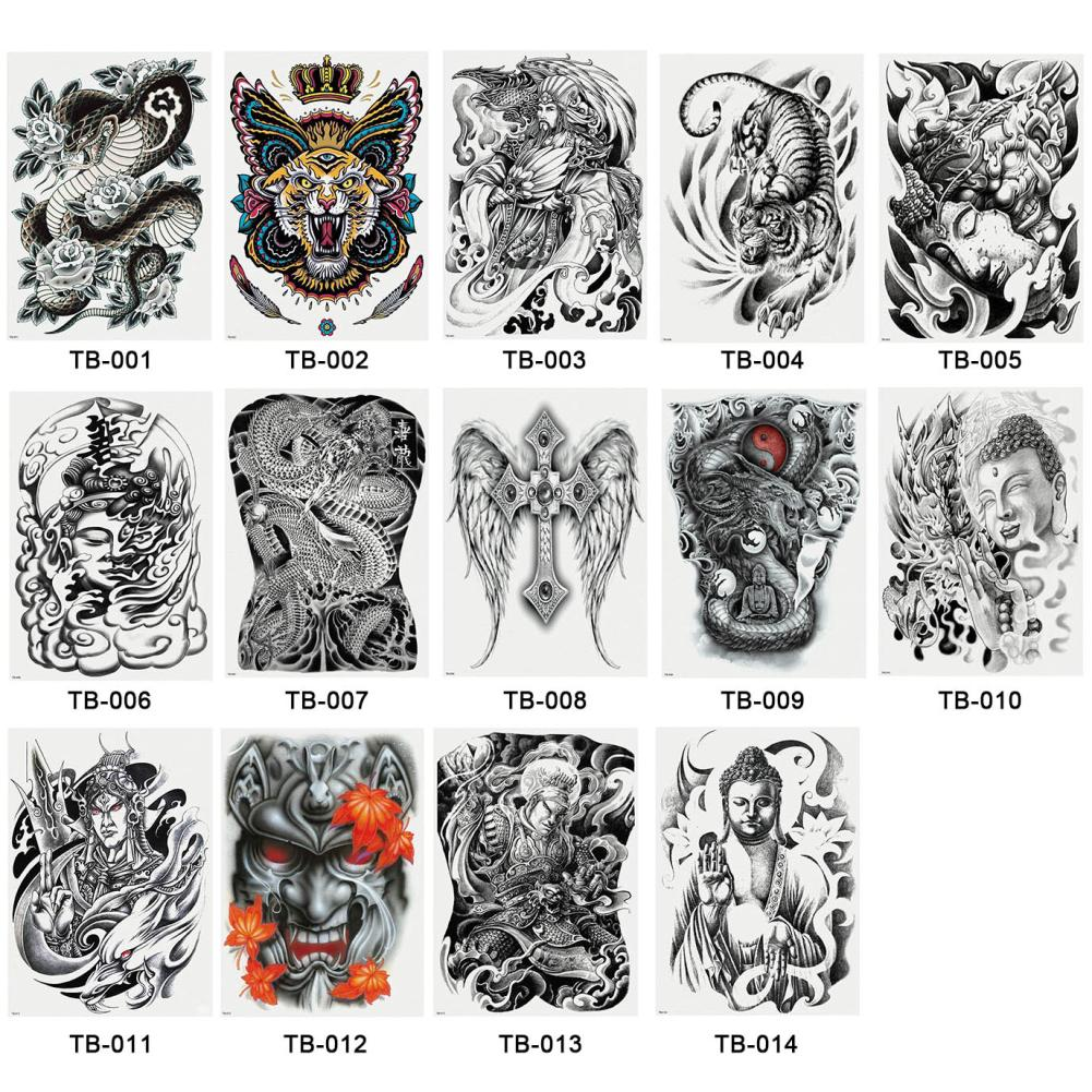 Large Tattoo Stickers 2018 New Designs Waterproof