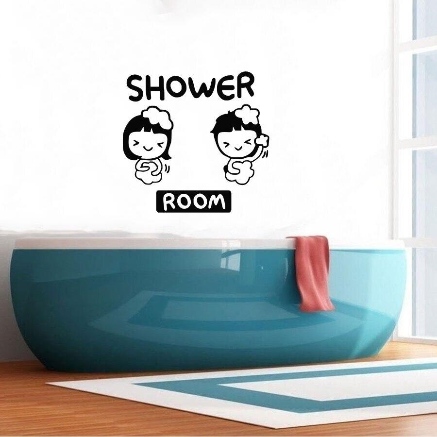 US $1.43 20% OFF|Hohe qualität bad dusche fliesen badezimmer wandaufkleber  wandbild vinyl wandtattoos dekorative Y 76 in Hohe qualität bad dusche ...