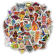 TD ZW 50Pcs Totem Stickers For Animal Graffiti Tribal Tattoo Suitcase Laptop Car Motorcycle Scrapbooking Skateboard Sticker