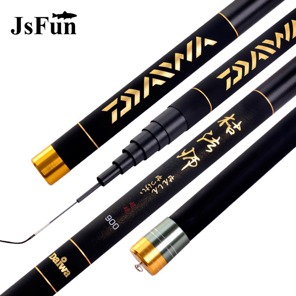 JSFUN 8 12m Super Hard Fishing Rod Carbon Fiber Telescopic Fishing Rod Ultralight Stream Fishing Pole