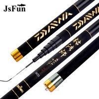 JSFUN 8 12m Super Hard Fishing Rod Carbon Fiber Telescopic Fishing Rod Ultralight Stream Fishing Pole YG11