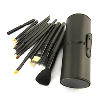 BLUEFRAG Professional Makeup Brush Kit 12 PCS Makeup Brush Cosmetic Brushes Tool Set Kit With Cup Holder Case Black Color