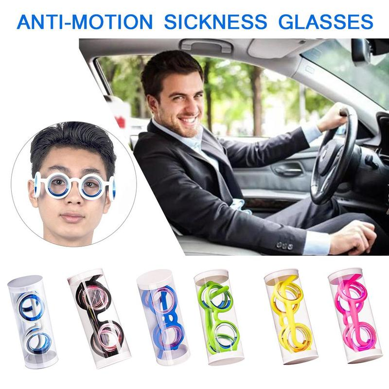 Adults Children Physical Smart Anti-motion Sickness Glasses Portable Seasick Airsick Liquid Lens-free Anti-sport Glasses Eyewear
