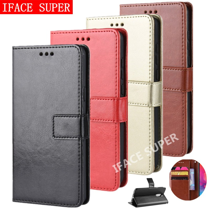 OPPO RealmeC2 Case OPPO A1K Case Flip Wallet PU Leather Phone Case For OPPO Realme C2 CPH1923 RMX1941 Case Lanyard Back Cover