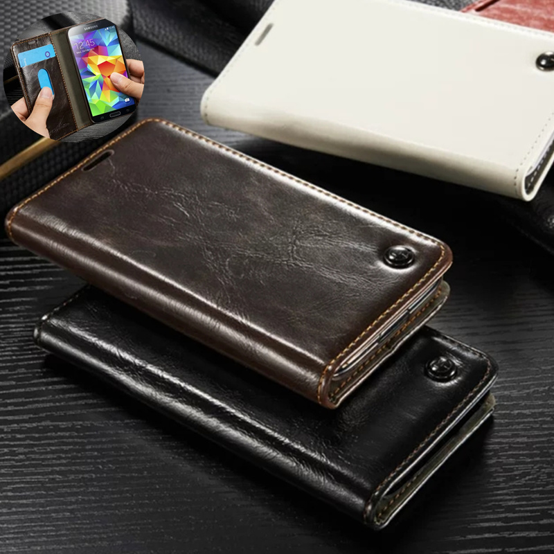 Luxury Case For Samsung Galaxy S5 Mini Retro True Flip Leather Cover For Samsung S5 Mini G800 Silicone Back Cover Case Capa