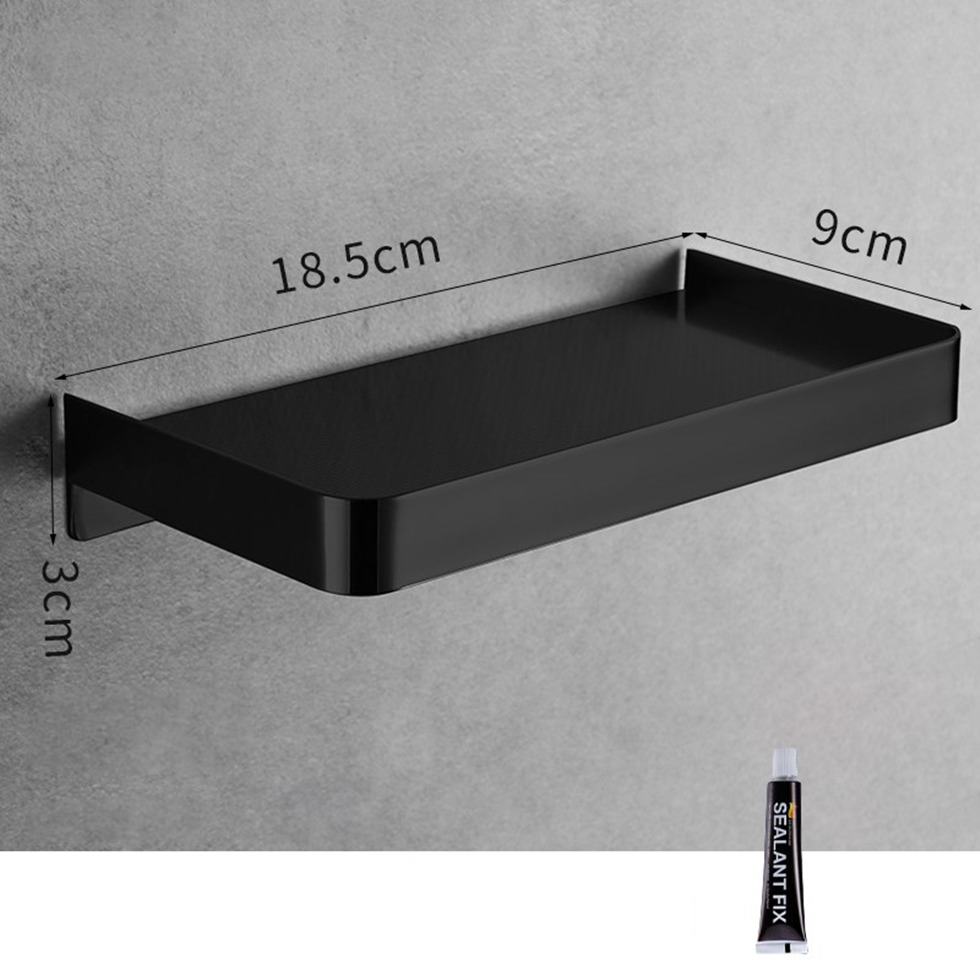 Shower Caddy Black Brush Gold 304 Stainless Steel Bathroom Shelf Wall Mounted Bath Rack Phone Shampoo Storage Etagere Bain Mural