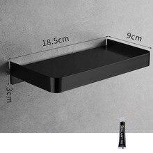 Shower Caddy armario de baño de acero inoxidable, estante de pared para teléfono, champú, almacenamiento, mural, negro, dorado, 304