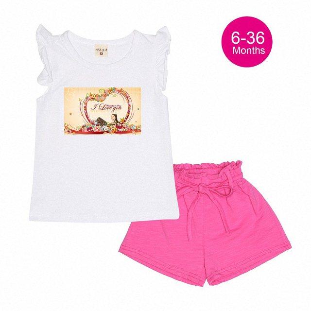 6cefebb5c Cute Cartoon Designer Girls Baby Clothes Summer Toddler Valentine ...