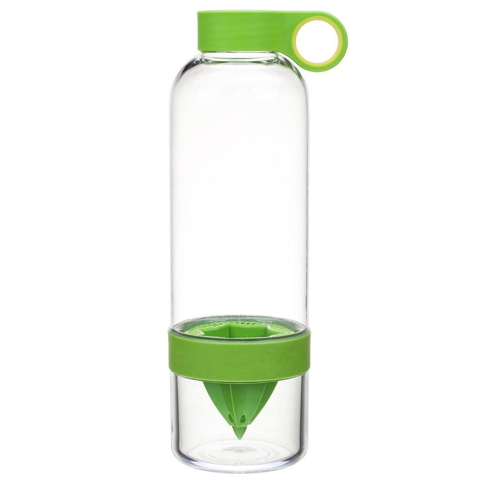 BPA Free Plastic Lemon Water Bottle Fresh Lemon Squeezer Drink ware For Camping Sports