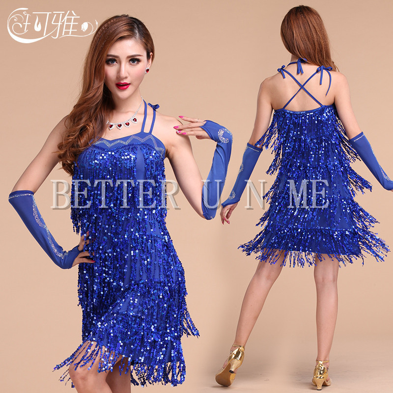Latin dance costume performance wear adult tassel sequins women s Latin  dance competition clothing customize-in Latin from Novelty   Special Use on  ... dc9a1f5788d7