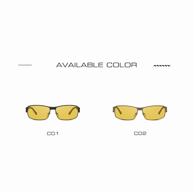 AOFLY Night Vision Glasses Brand Design Polarized Sunglasses Women Men Driving Anti-Glare Goggles AF8045 4