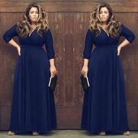 Europa i stany Zjednoczone sexy fashion pure color tłuszczu MM party dress duża sukienka (7 kolorów do wyboru)
