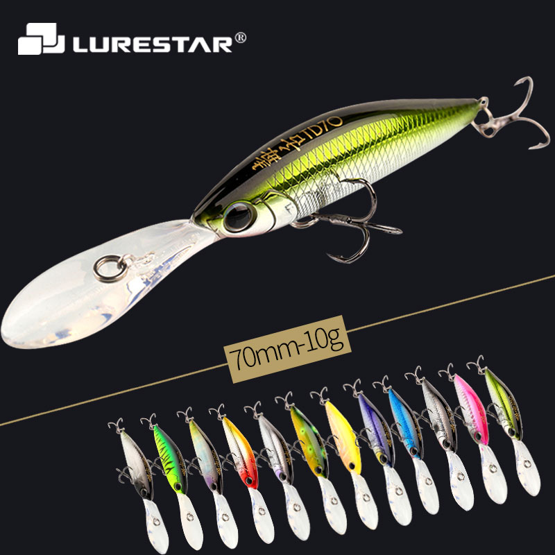 10g 110mm Levitation Action Minnow Fishing Lure Big Spoiler Top Quality Hard Bait Salt Water Fresh Water Fishing Tackle