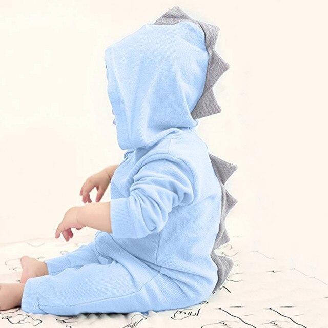 c7cdc8cf2 Long Sleeve Jumpsuit Cartoon Baby Girls Boys Dinosaur Hoodie Romper Zip Clothes  Jumpsuit hot sale New