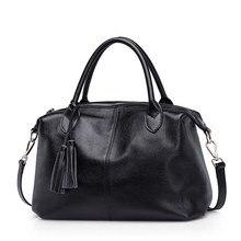 % 100% doğa hakiki deri kadın büyük el çantası ilk katman inek derisi kadın postacı çantası saçaklı omuz çantaları bolsa feminina PS11