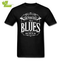 100 Percent Pure Blues T Shirt Adult New Arrival Unique Tshirt Printed Loose T Shirt Man