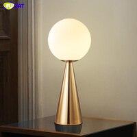Фумат краткое современный творческий настольные лампы круговой конус стенд настольные лампы для Гостиная прикроватной тумбочке Стекло мя