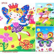3Pcs/Set 3D Children Puzzle DIY Foam Kids Mosaic Stickers Art EVA Cartoon Crystal Educational Toys 88 88 YJS Dropship пазл art through 3d diy crystal puzzle